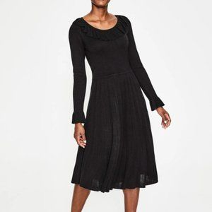 Boden Lavinia Black Long Sleeve Dress Size 10